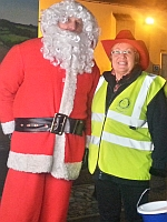 Santa with Mabel Butcher from Rivermead Rotary 150